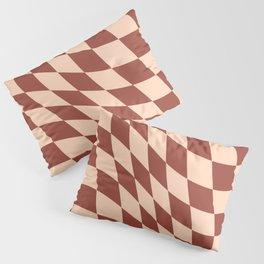 Warped Check Light Brown  Pillow Sham