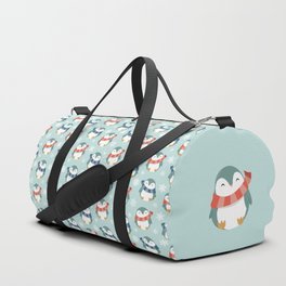 Winter penguins pattern Duffle Bag