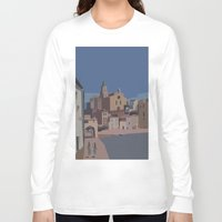 salvador dali Long Sleeve T-shirts featuring PORT ALGUER - SALVADOR DALI by Agustin Flowalistik