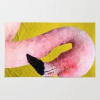 flamingo Area & Throw Rugs featuring Flamingo by Esco