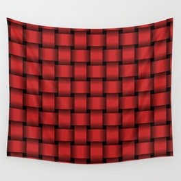Firebrick Red Weave Wall Tapestry