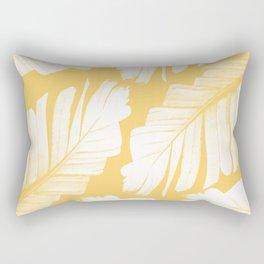 Yellow Banana Leaves Dream #1 #tropical #decor #art #society6 Rectangular Pillow