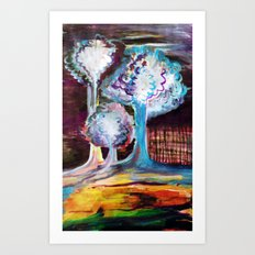 Night Is A World Lit By Itself Art Print