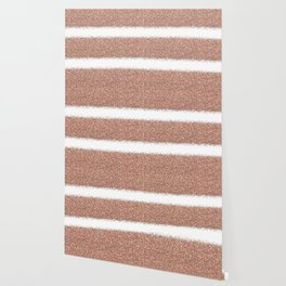 Rose gold glitter stripes Wallpaper