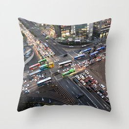 Gangnam at Rush Hour Throw Pillow