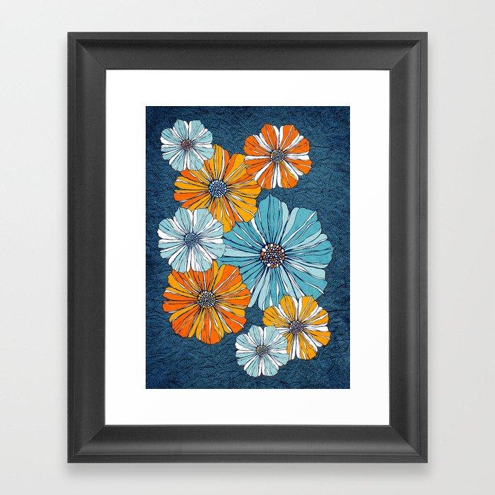 Marine flowers Framed Art Print