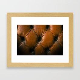 Chesterfield Leather Framed Art Print