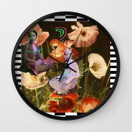 JAVA flowers shadow Wall Clock
