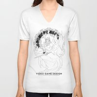 video game V-neck T-shirts featuring Video Game Design by Verdant Winter