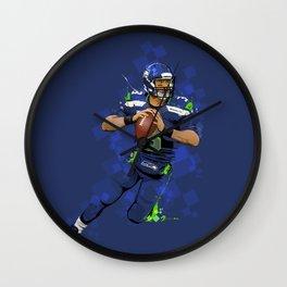 Russell Wilson QB 3 Seattle Seahawks Wall Clock