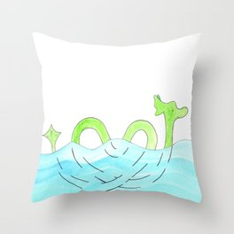 Sea Serpent In Love Throw Pillow