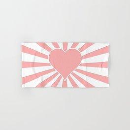Pink Coral Valentine Love Heart Explosion Hand & Bath Towel