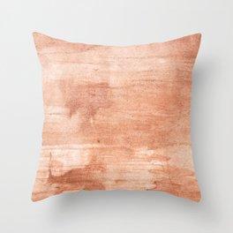 Burly wood hand-drawn aquarelle Throw Pillow
