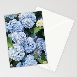New England Summer Purple Hydrangeas Stationery Cards
