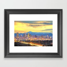 The Mile High City Framed Art Print