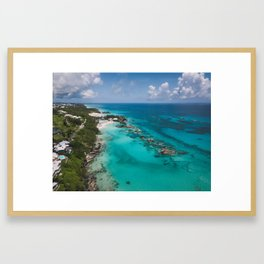 Aerial Beach Framed Art Print