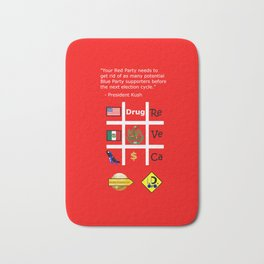Red Party Bath Mat