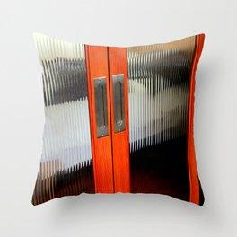 Ribbed Glass Doors - A Half Made Bed Throw Pillow