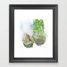 Floating Islands Framed Art Print