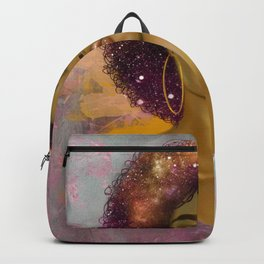 Black Queen Retro Afro Words Melanin Unapologetically Dope Backpack