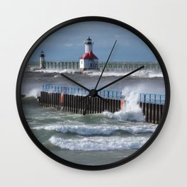 Wind and Waves Wall Clock