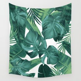 Tropical Summer Jungle Leaves Dream #2 #tropical #decor #art #society6 Wall Tapestry