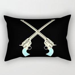 Crossed Guns Pair Rectangular Pillow