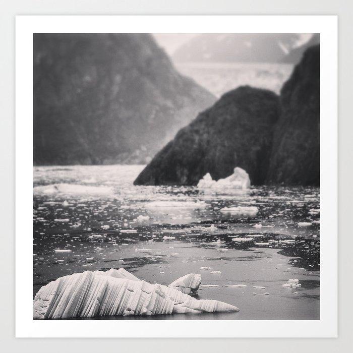 Black and White Ice Art Print