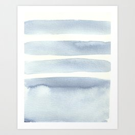 Minimalist Blue Watercolor Art Print