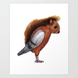 Squigeon Art Print
