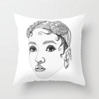 fka twigs Throw Pillows featuring FKA Twigs by LaraLindsassy