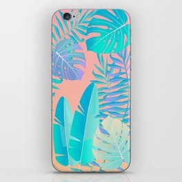 Tropics ( monstera and banana leaf pattern ) iPhone Skin
