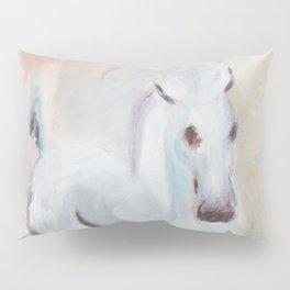 white horses Pillow Sham