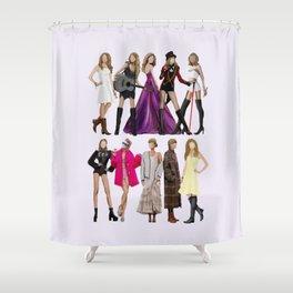 Taylor S Evolution - Fan Art Shower Curtain