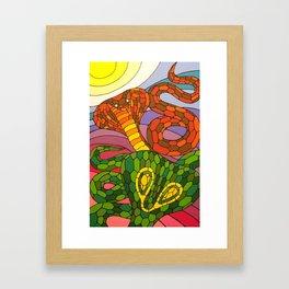 Clashing Cobras Framed Art Print