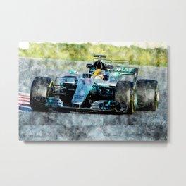 Lewis Hamilton 2017 Metal Print
