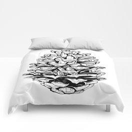 Pine cone illustration Comforters