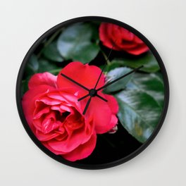 Moody Roses Wall Clock