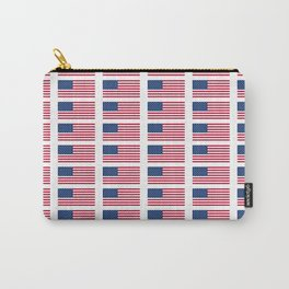 american flag 2-Usa,america,us,stars and strips, patriotic,patriot,united states,american,spangled Carry-All Pouch