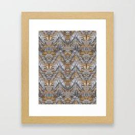 Wood Quilt 2 Framed Art Print