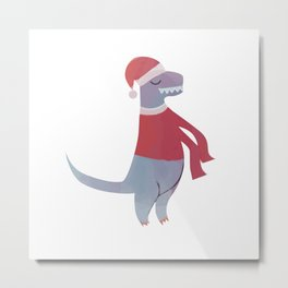 T Rex Sweater Metal Print