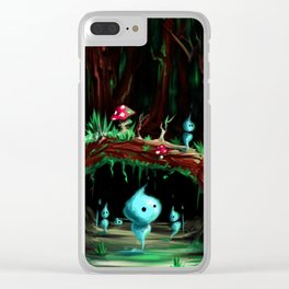 Wisps forest Clear iPhone Case