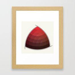 Le Rouge-Orangé (ses diverses nuances combinées avec le noir) Remake (Interpretation), no text Framed Art Print