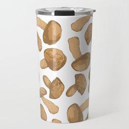 Seamless pattern design with mushrooms Travel Mug