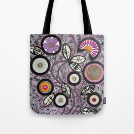 Lovely Flowers Pink Tote Bag