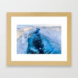 The crack of Baikal ice Framed Art Print