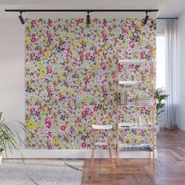 Social Flowers Wall Mural