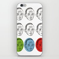 talking heads iPhone & iPod Skins featuring Heads by Nü Köza