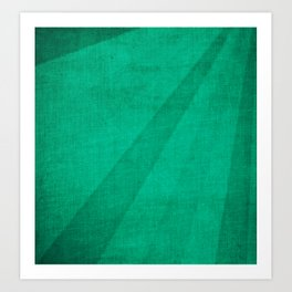 Teal Folds Art Print