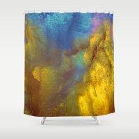 golden Shower Curtains featuring Golden by Benito Sarnelli